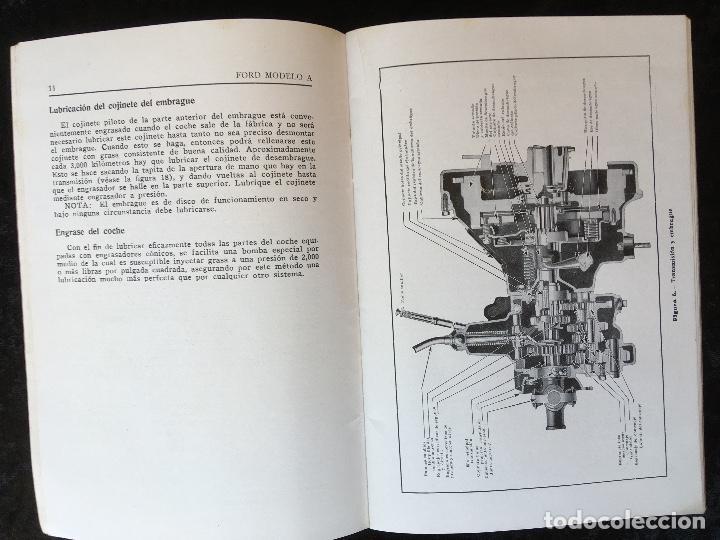 Coches y Motocicletas: FORD MODELO A - LIBRO DE INSTRUCCIONES - ILUSTRADO - BUEN ESTADO - Foto 3 - 162513626