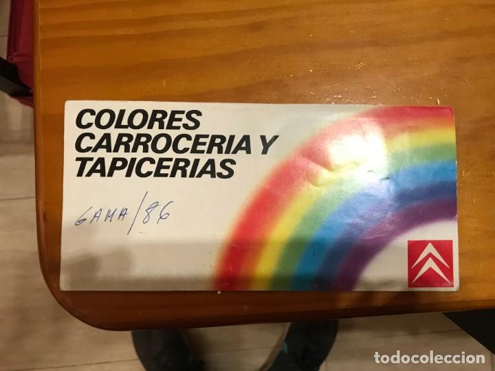 CATALOGO DE COLORES Y TAPIZADOS CITROEN 1986 (Coches y Motocicletas Antiguas y Clásicas - Catálogos, Publicidad y Libros de mecánica)