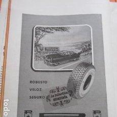Coches y Motocicletas: PUBLICIDAD 1952 - COLECCION COCHES - PIRELLI . Lote 162914250