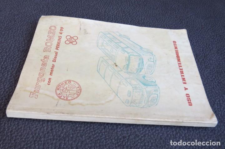 Coches y Motocicletas: MANUAL INSTRUCCIONES FURGONETA ROMEO. MOTOR PERKINS 4/99 - 1963 - Foto 4 - 163044794