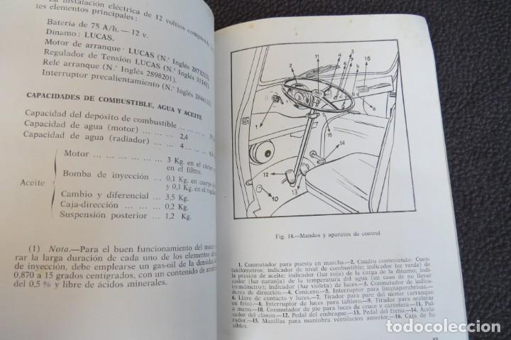 Coches y Motocicletas: MANUAL INSTRUCCIONES FURGONETA ROMEO. MOTOR PERKINS 4/99 - 1963 - Foto 9 - 163044794