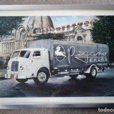 Coches y Motocicletas - CUADRO CON LA LITOGRAFÍA DE ALTAYA - PEGASO MOFLETES - 44 X 33 CM - 157748478