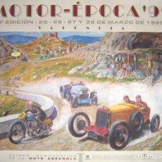 Coches y Motocicletas: GRAN PÓSTER Y CARTEL DE MOTOR-ÉPOCA 99, VALENCIA. FERIA MONOGRÁFICA DE LA MOTO ESPAÑOLA.. Lote 163392242