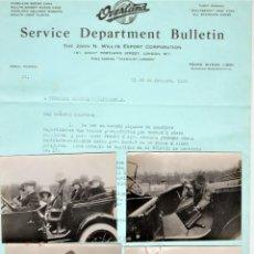 Coches y Motocicletas: AUTOMOVIL CLASICO,4 CARTAS Y 4 FOTOGRAFIAS COCHE OVERLAND MODEL 4,AÑO 1920,AUMENTO ASIENTOS,WILLYS. Lote 163410746