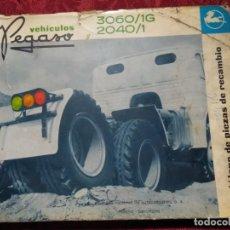 Coches y Motocicletas: CATALOGO DE PIEZAS DE RECAMBIO CAMIONES VEHICULOS PEGASO 3060/1G 2040/1 1ª EDICION 1968. Lote 163416838