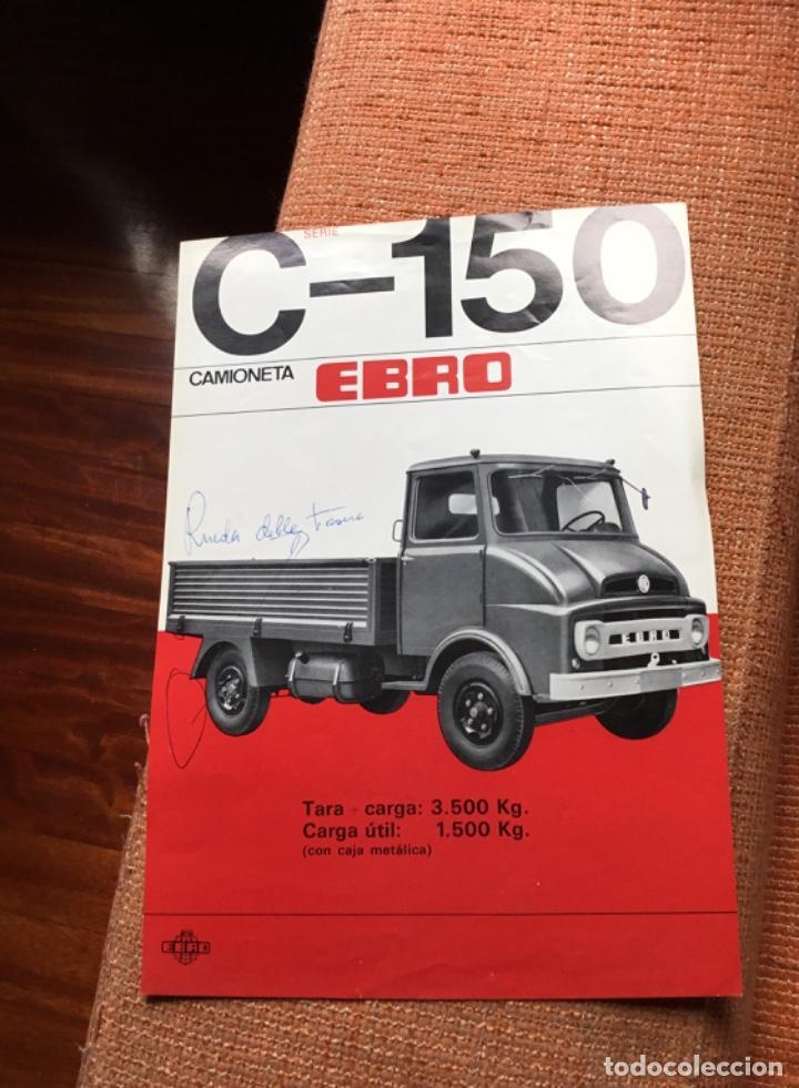 MUY ANTIGUO CATÁLOGO CAMIÓN EBRO MOTOR IBÉRICA TOTALMENTE ORIGINAL (Coches y Motocicletas Antiguas y Clásicas - Catálogos, Publicidad y Libros de mecánica)