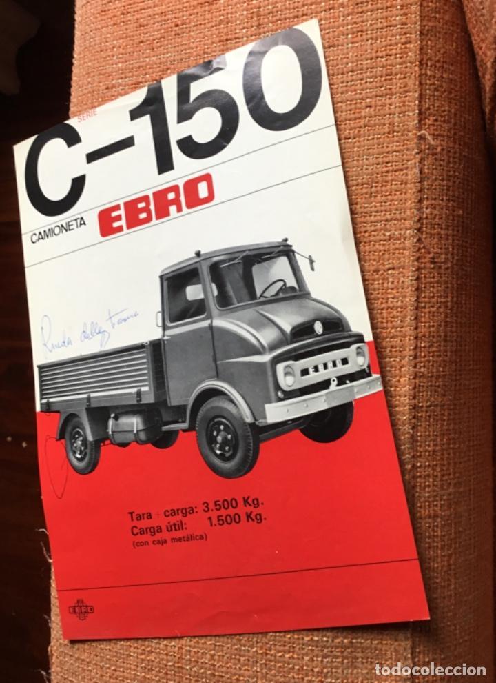 Coches y Motocicletas: Muy antiguo catálogo camión EBRO motor ibérica Totalmente original - Foto 2 - 163504854