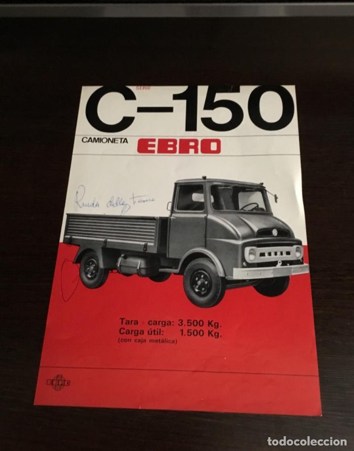 Coches y Motocicletas: Muy antiguo catálogo camión EBRO motor ibérica Totalmente original - Foto 3 - 163504854