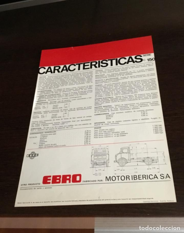 Coches y Motocicletas: Muy antiguo catálogo camión EBRO motor ibérica Totalmente original - Foto 6 - 163504854