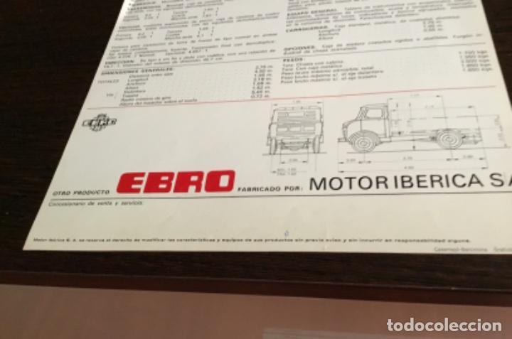 Coches y Motocicletas: Muy antiguo catálogo camión EBRO motor ibérica Totalmente original - Foto 8 - 163504854