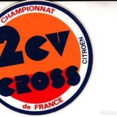 Coches y Motocicletas: PEGATINA CITROEN 2 CV CROSS CHAMPIONNAT. Lote 163571434