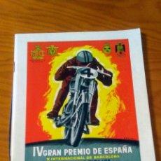 Coches y Motocicletas: IV GRAN PREMIO DE ESPAÑA PUNTUABLE CAMPEONATOS DEL MUNDO MOTOCICLISMO CIRCUITO DE MONTJUICH 1953. Lote 163580121