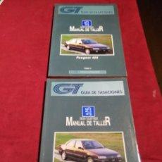 Coches y Motocicletas: GUIA DE TASACIONES MANUAL DE TALLER PEUGEOT 405 TOMO I Y II ENERO 1996. Lote 164273798