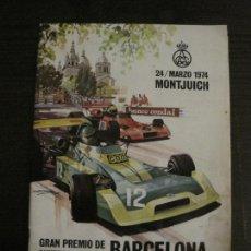 Coches y Motocicletas: BARCELONA-FORMULA 2-GRAN PREMIO CAMPEONATO EUROPA-MONTJUICH 1974-REVISTA OFICIAL-VER FOTOS(V-16.989). Lote 164737094