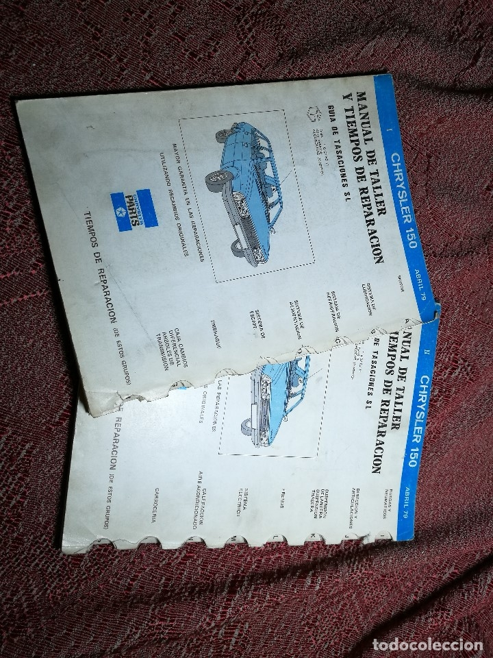 Coches y Motocicletas: MANUAL TALLER Y CARACTERISTICAS TECNICAS--CHRYSLER 150--ABRIL 1979 - Foto 2 - 164753802