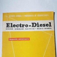 Coches y Motocicletas: ELECTRO-DIESEL- Nº 24 - JUNIO 1962- AUSTIN A40 MK II -HENSCHEL - ENCARTES CHEVROLET CORVAIR. Lote 164873414