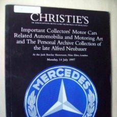 Coches y Motocicletas: CATÁLOGO SUBASTA CHRISTIE´S DE AUTOMOVILES. MUCHOS ARTICULOS MERCEDES . Lote 164972790