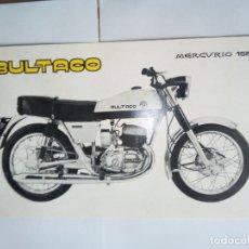 Coches y Motocicletas: FOLLETO ORIGINAL DE LA MOTOCICLETA BULTACO MERCURIO 155-CON LAS CARACTERISTICAS TECNICAS. Lote 165081874