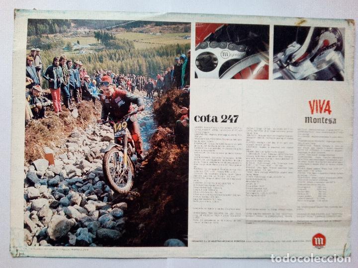 Coches y Motocicletas: FOLLETO ORIGINAL DE LA MOTOCICLETA MONTESA COTA 247-CON LAS CARACTERISTICAS TECNICAS-6 PAG - Foto 2 - 165083410