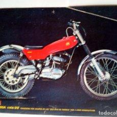 Coches y Motocicletas: FOLLETO ORIGINAL DE LA MOTOCICLETA MONTESA COTA 247-CON LAS CARACTERISTICAS TECNICAS-6 PAG. Lote 165083410