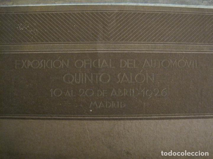 Coches y Motocicletas: ALBUM DE ORO-EXPOSICION OFICIAL DEL AUTOMOVIL MADRID 1926-PUBLICIDAD COCHES-VER FOTOS-(V-17.031) - Foto 3 - 165085594