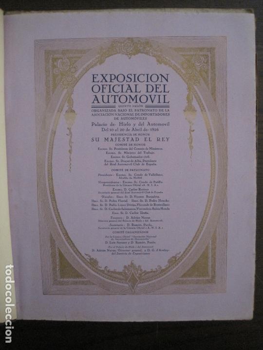 Coches y Motocicletas: ALBUM DE ORO-EXPOSICION OFICIAL DEL AUTOMOVIL MADRID 1926-PUBLICIDAD COCHES-VER FOTOS-(V-17.031) - Foto 8 - 165085594