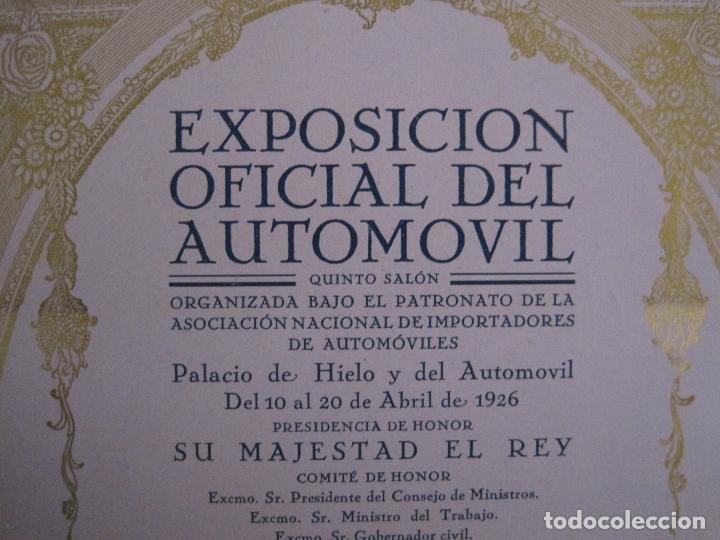 Coches y Motocicletas: ALBUM DE ORO-EXPOSICION OFICIAL DEL AUTOMOVIL MADRID 1926-PUBLICIDAD COCHES-VER FOTOS-(V-17.031) - Foto 9 - 165085594