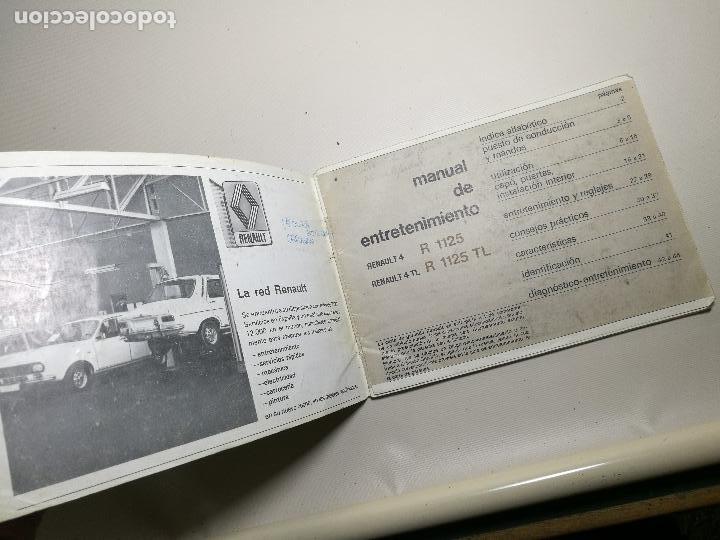 Coches y Motocicletas: manual conduccion y entretenimiento renault 4 y renault 4 tl ----5ª edicion española 1978 - Foto 7 - 165363534