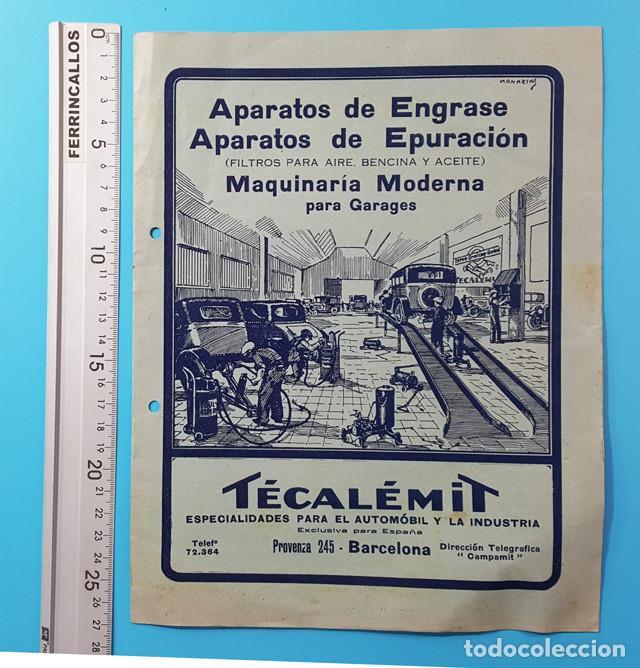 ANTIGUO CATALOGO 8 PAGINAS TECALEMIT APARATOS DE ENGRASE Y EPURACION MAQUINARIA GARAGES 27 X 21 CM (Coches y Motocicletas Antiguas y Clásicas - Catálogos, Publicidad y Libros de mecánica)