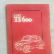 Coches y Motocicletas: MANUAL SEAT 600. Lote 165765966