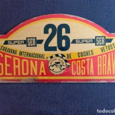 Coches y Motocicletas: PLACA MADERA Nº 26 DE LA VIII CARAVANA INTERNACIONAL DE COCHES VETUSTOS - MOTOR CLUB GERONA 1971. Lote 165853778