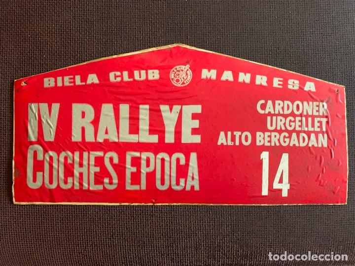 PEGATINAS SOBRE CARTON IV RALLYE COCHES EPOCA. BIELA CLUB MANRESA Nº 14. (Coches y Motocicletas Antiguas y Clásicas - Catálogos, Publicidad y Libros de mecánica)