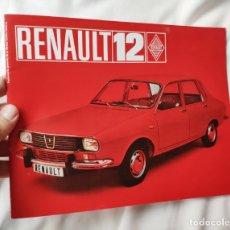 Carros e motociclos: CATALOGO TECNICO AUTOMOVIL RENAULT 12 1970 - FACSIMIL - PUBLICIDAD - EXCELENTE ESTADO. Lote 189312353