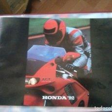 Coches y Motocicletas: CATALOGO CARACTERISTICAS TECNICAS TODOS MODELOS DE HONDA 92 CATALOGO DE 28 PAGINAS A TODO COLOR.. Lote 166238122
