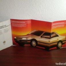 Coches y Motocicletas: PUBLICIDAD PEUGEOT 405 - 77 CM - DESPLEGABLE - ANVERSO Y REVERSO - AÑO 1991. Lote 166282058