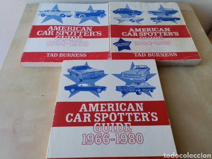 AMERICAN CAR SPOTTERS GUIDE 1920-1980 3 VOLÚMENES (Coches y Motocicletas Antiguas y Clásicas - Catálogos, Publicidad y Libros de mecánica)