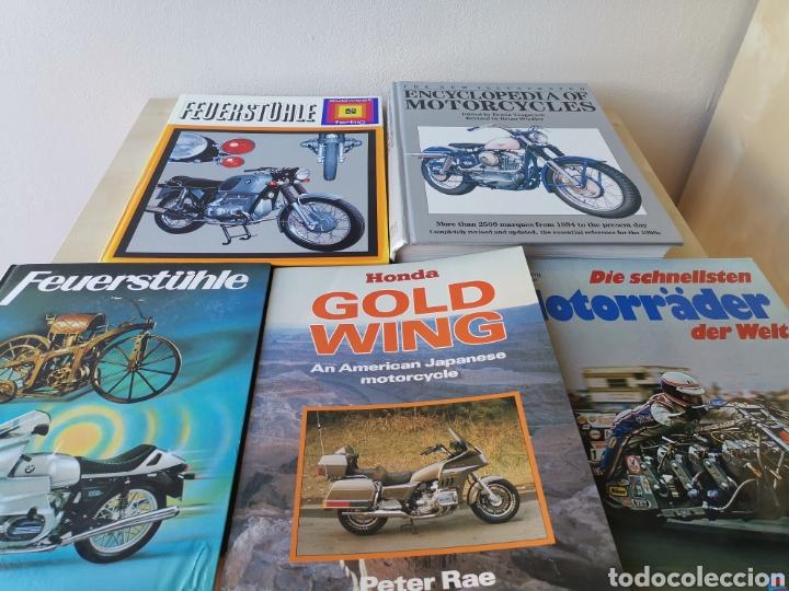 LOTE LIBROS DE MOTOCICLETAS (Coches y Motocicletas Antiguas y Clásicas - Catálogos, Publicidad y Libros de mecánica)