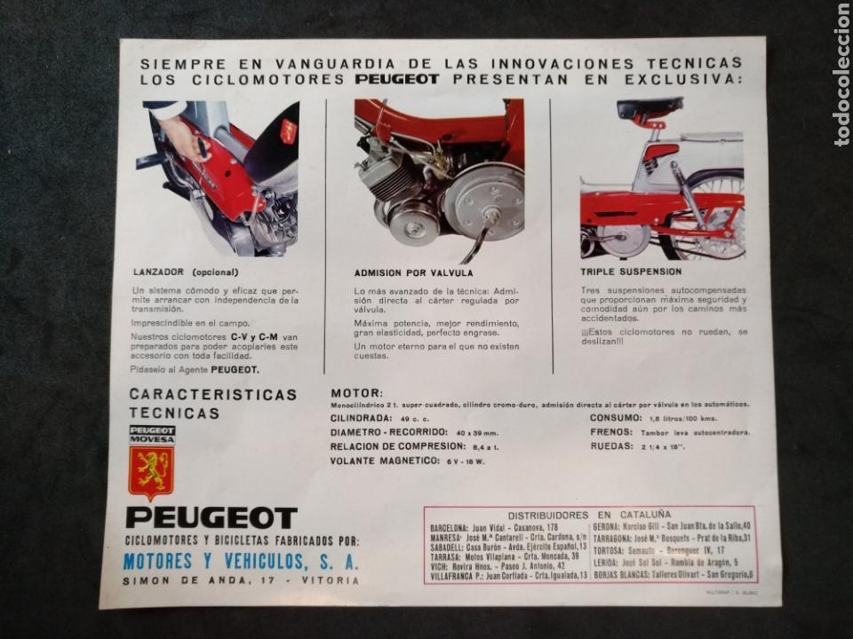 Coches y Motocicletas: Folleto / catálogo Peugeot movesa, ciclomotores y bicicletas - Foto 2 - 166921921