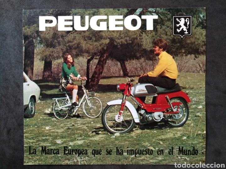 FOLLETO / CATÁLOGO PEUGEOT MOVESA, CICLOMOTORES Y BICICLETAS (Coches y Motocicletas Antiguas y Clásicas - Catálogos, Publicidad y Libros de mecánica)