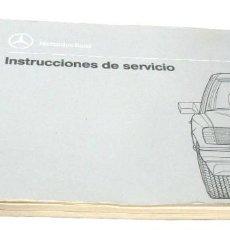 Coches y Motocicletas: MANUAL DE INSTRUCCIONES DE SERVICIO DE MERCEDES BENZ CLASE E CARROCERÍA W124 ESPAÑOL. Lote 167612492
