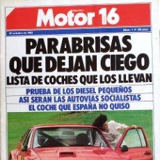 Voitures et Motocyclettes: MOTOR 16. PRIMER NÚMERO. 1983. AUTOMOVILISMO. GENITO ORTIZ. Lote 167617588