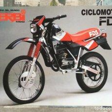 Coches y Motocicletas: FOLLETO PUBLICITARIO MOTO - DERBI RABASA FDS - ORIGINAL - AÑOS 80. Lote 167671028