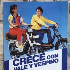 Voitures et Motocyclettes: FOLLETO PUBLICITARIO VESPA - CRECE CON VALE Y VESPINO - ORIGINAL - AÑOS 80. Lote 167671296