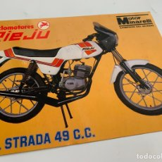 Voitures et Motocyclettes: FOLLETO CATALOGO PUBLICIDAD ORIGINAL RIEJU STRADA 49 C.C. DE 1983. Lote 167714840