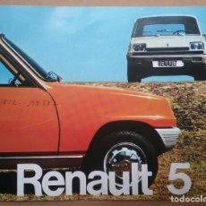 Automobili e Motociclette: RENAULT 5 CATÁLOGO FOLLETO COCHE AUTOMÓVIL FASA 1974. Lote 167754400