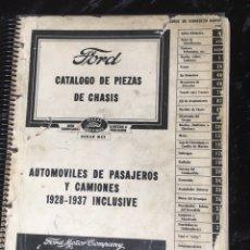 Coches y Motocicletas: FORD - CATALOGO DE PIEZAS DE CHASIS - 1928 A 1937 - AUTOMOVILES PASAJEROS Y CAMIONES 1946. Lote 168185213