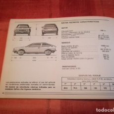 Coches y Motocicletas: MANUAL DE USUARIO ALFA ROMEO SPRINT . Lote 168455684