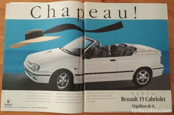 PUBLICIDAD RENAULT 19 CABRIOLET (Coches y Motocicletas Antiguas y Clásicas - Catálogos, Publicidad y Libros de mecánica)