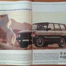 Coches y Motocicletas: PUBLICIDAD LAND ROVER RANGE ROVER. Lote 168611464