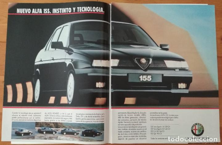 PUBLICIDAD ALFA ROMEO 155 (Coches y Motocicletas Antiguas y Clásicas - Catálogos, Publicidad y Libros de mecánica)